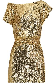 Gold Glitter Dress--Want.
