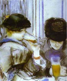 Edouard Manet - Two women drinking bocks, 1878