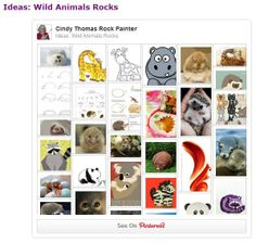 Ideas for painting wild animals on rocks