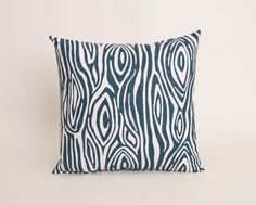 Navy Throw Pillow Cover, Navy Blue Accent Pillow, 22 x 22 Throw Pillow Cover, Navy Pillow Cover, Blue Cushion, Navy Willow Pillow Cover on Etsy, $18.00