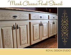 Embossed Stenciling | Stenciled Cabinet Projects | Royal Design Studio