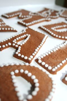 Gingerbread Letters - With coffee, a cake topper, or for the holidays!