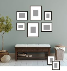 Photo wall display on pinterest for 8x10 bedroom furniture layout
