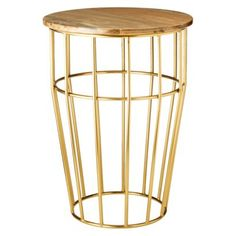 threshold brass accent table