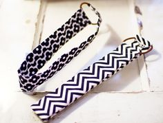 DIY hairband - strip of cloth sewn onto hair elastic!! brilliant and SO simple
