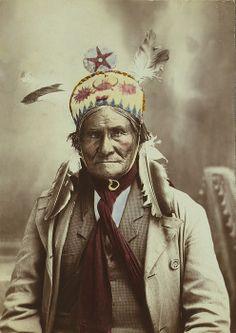 Geronimo (1829-1909), Chiricahua Apache warrior, 1903 portrait by J.W. Collins.