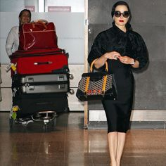 Mile-High Style. Wish I could travel like Dita.
