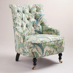 One of my favorite discoveries at WorldMarket.com: Fern Floral Erin Chair