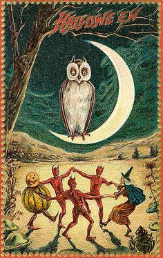 Vintage Halloween Postcard #boden and #magicalmenagerie