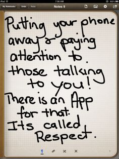 Your thoughts on this? Do you just hate it when talking to people and they are just busy texting or whatever ... just not taking notice of you?   https://www.facebook.com/gail.bottomley