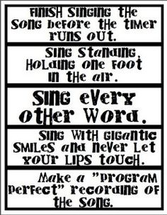 Fun ideas for Primary Singing Time