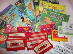 Read Along books  tapes. oh wow! How I spent my childhood summers.