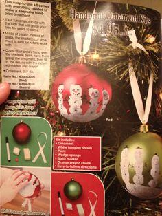 snowman ornaments, christmas crafts, handprint ornament, snowmen ornament, homemade ornaments