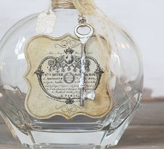 repurposed vintage bottle
