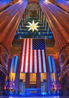 Indianapolis War Memorial Shrine Room By Carl VanRooy Photography on Flickr | This is a shot of the Shrine Room inside the War Memorial, which you can see in my other shots of the downtown skyline. This is a beautiful room and a must visit for anyone coming to Indy. #veterans #memorial