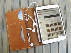 Personalized IPAD Mini Leather Portfolio by HarborLeatherGoods, $128.00