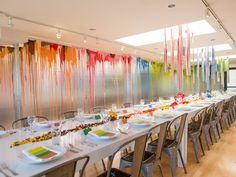 Silver foil insulation walls, 20 gallons of paint, 6,850 Legos used to create dining room for the David Rinehart dinner at PVAC - designed by Doug Meyer