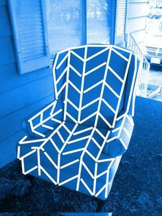 wingback chair herringbone