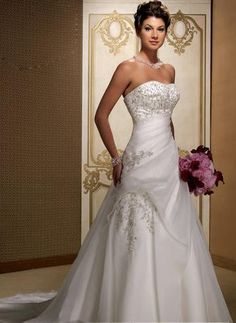 Empire Sweetheart Chapel Bridal Gowns