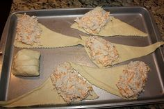 Chicken Roll Ups (chicken, cheese, cream cheese, and a packet of Hidden Valley Ranch powder) AMAZING!!