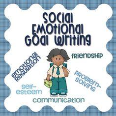 Social Emotional IEP Goal Writing Guide