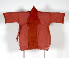 Short Orange Women's Prayer Jacket, Japanese, Mid to Late Edo period, late 18th to early 19th century, Harvard Art Museums/Arthur M. Sackler Museum.