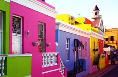 i want to paint my house at bright as the houses in bo kaap, cape town