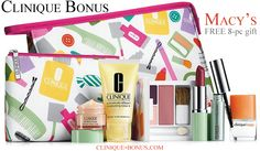 It is already available online and in stores. Macy's bonus time has started! Violets or Nudes? Your choice. http://clinique-bonus.com/macys/