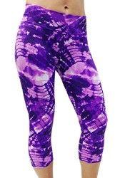 Women's Printed Capri Workout Legging for Gym, Fitness, Yoga & Activewear