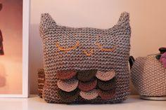 Sleepy Owl Cushion