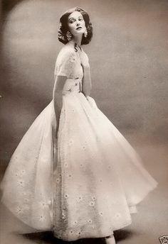 Evening wear for Harper's Bazaar 1956.