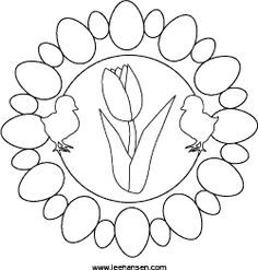 Printable Easter coloring placemat