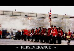 This photograph I took in Kingston,Ontario,  Fort Henry. Than spruced it up.  June 2011.