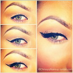 ok, so i have been getting a lot of ppl asking me about my winged liner! Here is a simple way of doing it! Real easy!