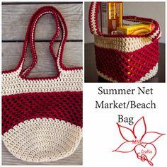 mne craft, marketbeach bag, market bag, crochet bag, crochet pattern