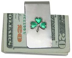 Money Clip with Shamrock