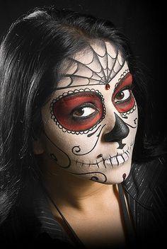 Nice sugar skull makeup