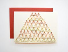 Hand Stitched NOTE CARD with ENVELOPE by SarahKBenning on Etsy, $7.00