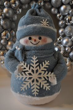"Snowman pattern for ""Snowflake"", 10"" snowman doll. $9.50, via Etsy."