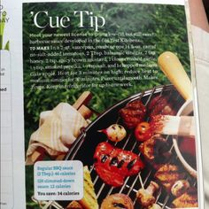 Low-cal BBQ sauce recipe, from Good Housekeeping.