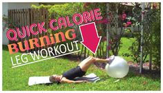 Quick Calorie Burning Legs #Workout for #Women. Burn tons of calories in just 20 minutes and TONE THE #THIGHS.
