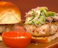 """Buffalo-burger from Carla Hall's new cookbook, """"Cooking with Love: Comfort Food That Hugs You"""""""