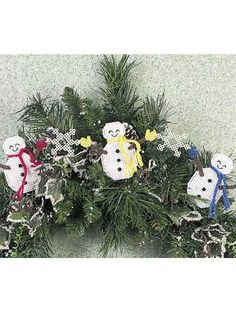 Quick-as-a-Wink Snowman Garland