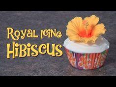 cake tutori, royal icing hibiscus, royal ice, sugar ice, ice hibiscus, cake decor