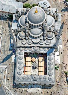 Aerial View of Selimiye Mosque (Selimiye Camii) in Edirne, Turkey (Ottoman Architecture)