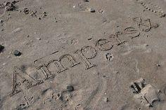 ampersand in sand by airnnae, via Flickr