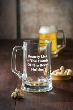 Clear Beauty Lies in the Hands of the Beer Holder Beer Mug