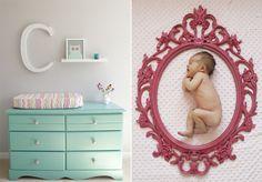 baby in a frame! so cute.