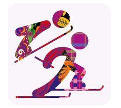 Pictogram Olympic Games 2014 Sochi.