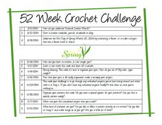 52 Week Crochet Challenge with Red Berry Crochet http://redberrycrochet.blogspot.com/
